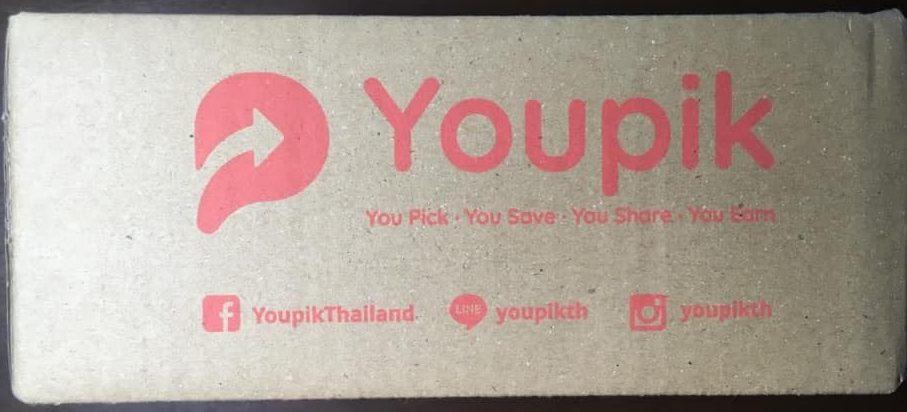 กล่องพัสดุ Youpik สีชมพูแปลกตา